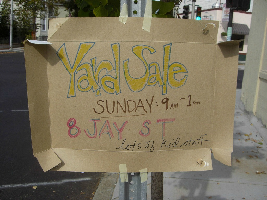 A yard sale is one of the best ways to reclaim spent money from your old items.